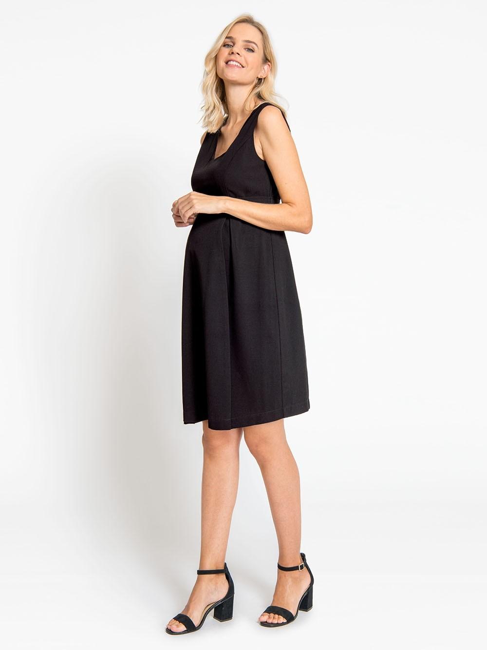 a3a2016375d4e JoJo Black Tailored Maternity Dress - Bump & me