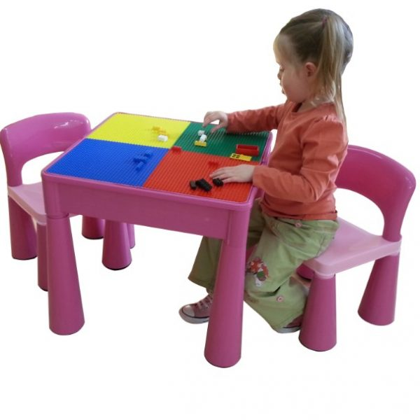 34479ea61ab4 5 in 1 Multipurpose Activity Table   2 Chairs Set - Pink - Bump   me